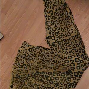 T Party leopard flare pant